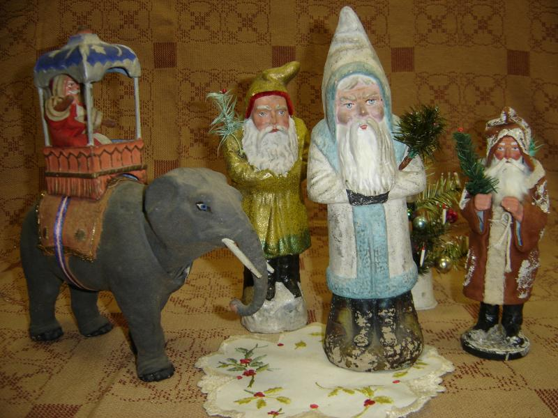Rare German Santas from Elves Antiques
